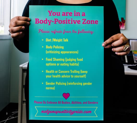 Body-Positive Zone Poster